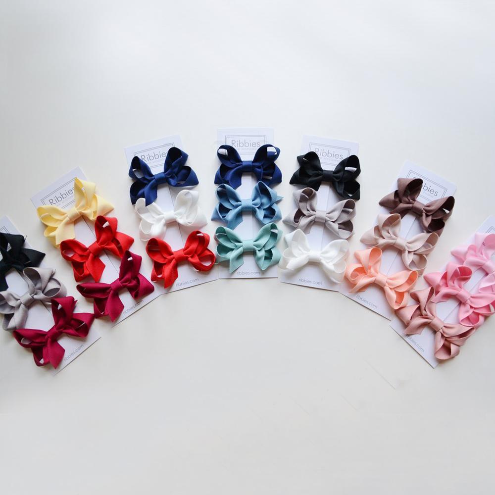Ribbies|雙層中蝴蝶結3入組-藍色系列