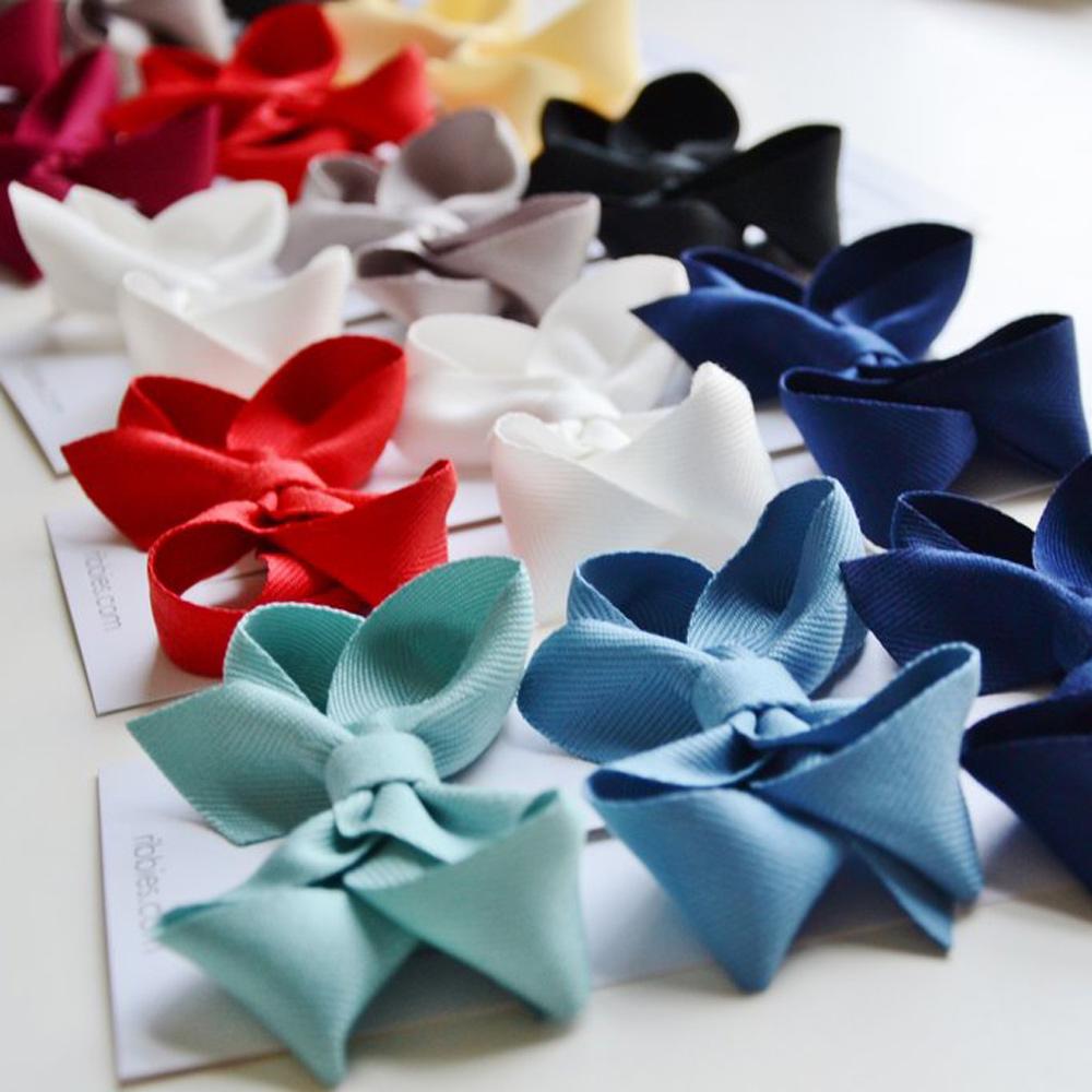 Ribbies|雙層大蝴蝶結3入組-紅/金/海軍藍