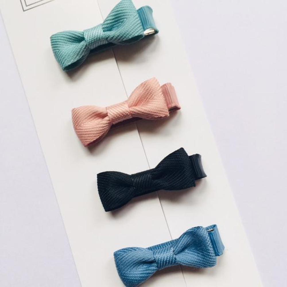 Ribbies|雪芙蘭緞帶迷你蝴蝶結4入組-天空