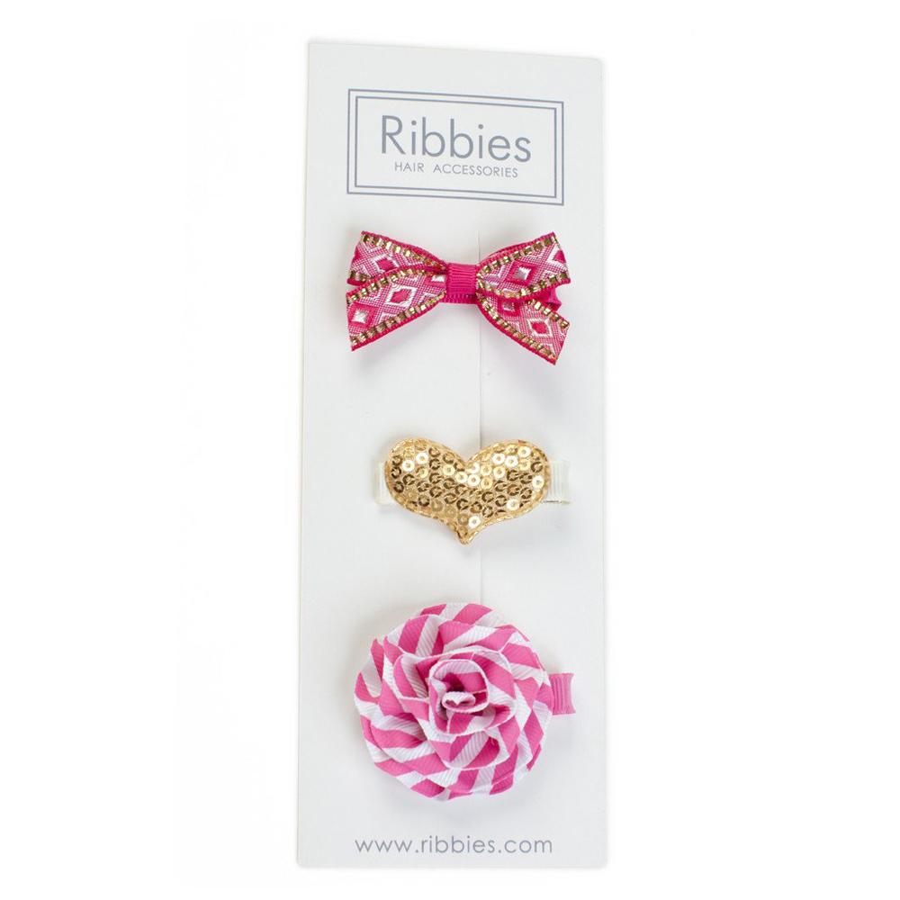 Ribbies|綜合緞帶3入組-Rosie