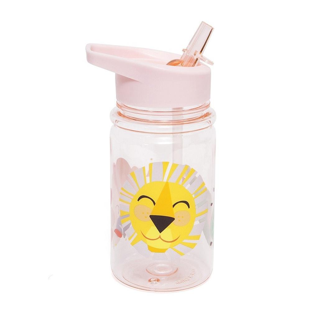 Petit Monkey|兒童水杯400(ml)-粉紅獅子與好朋友
