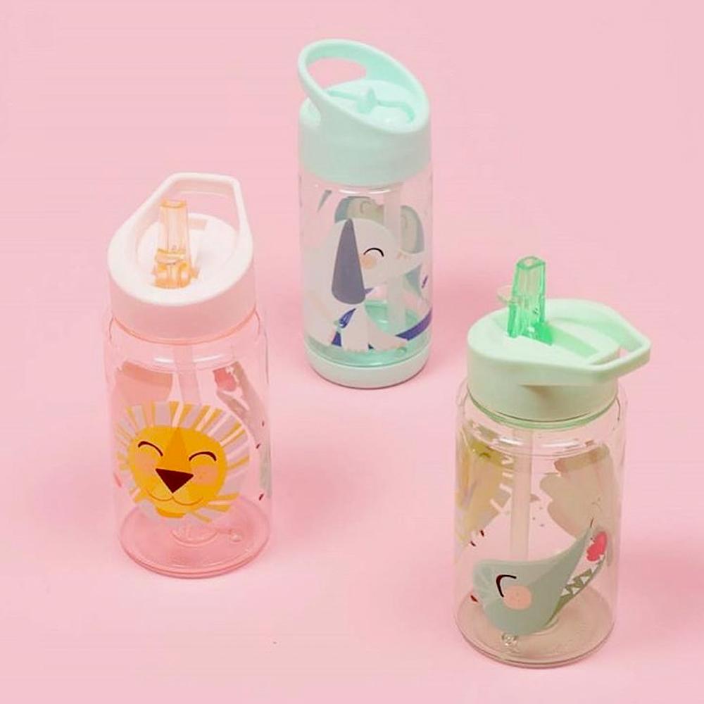Petit Monkey|兒童水杯400(ml)-粉綠獅子與好朋友