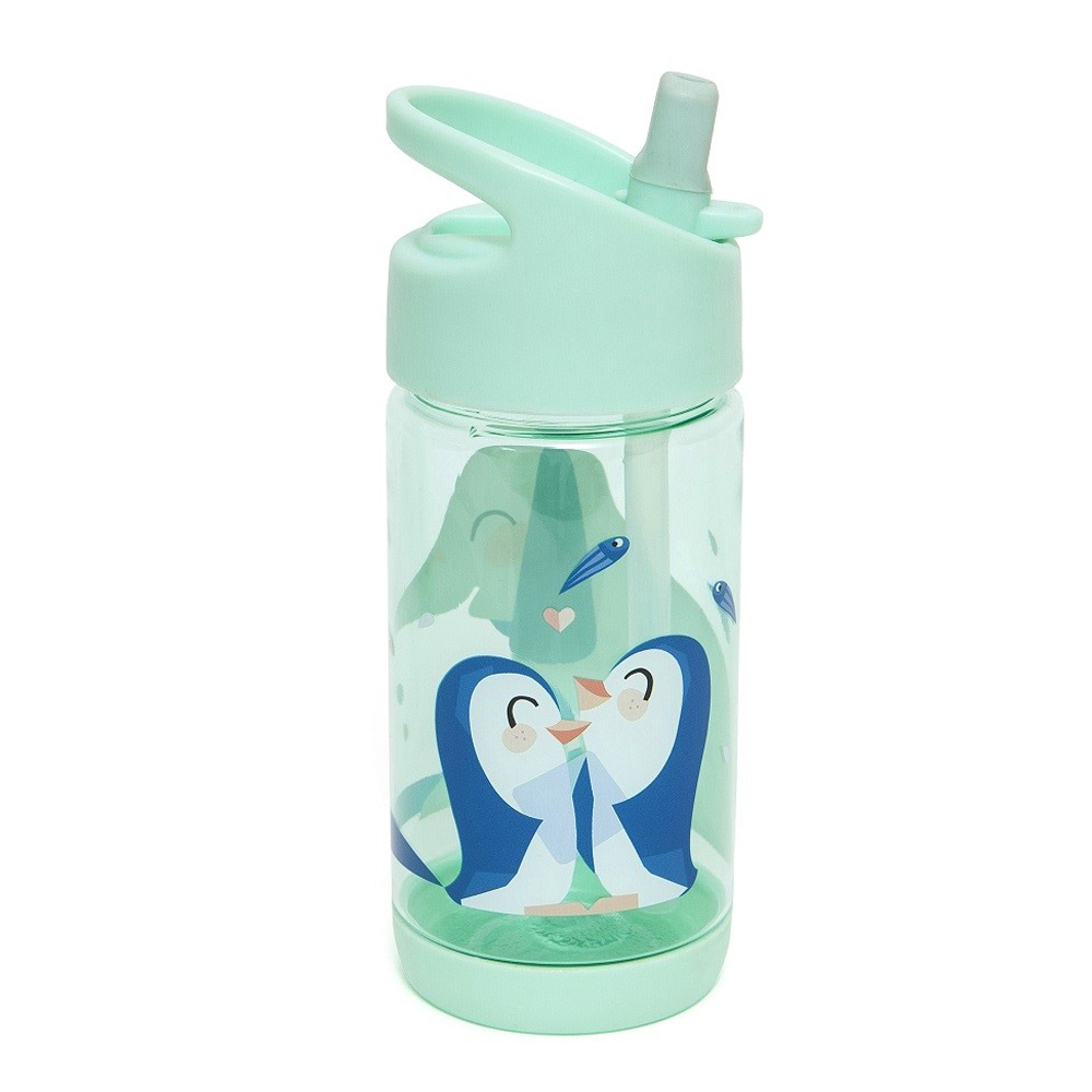 Petit Monkey  兒童水杯320(ml)-大象&企鵝(軟橡膠吸嘴)