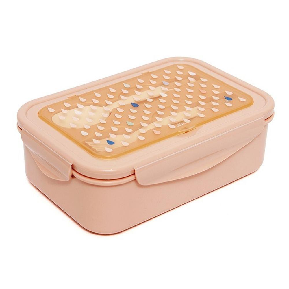 Petit Monkey 叉匙野餐盒-杏桃水滴點點