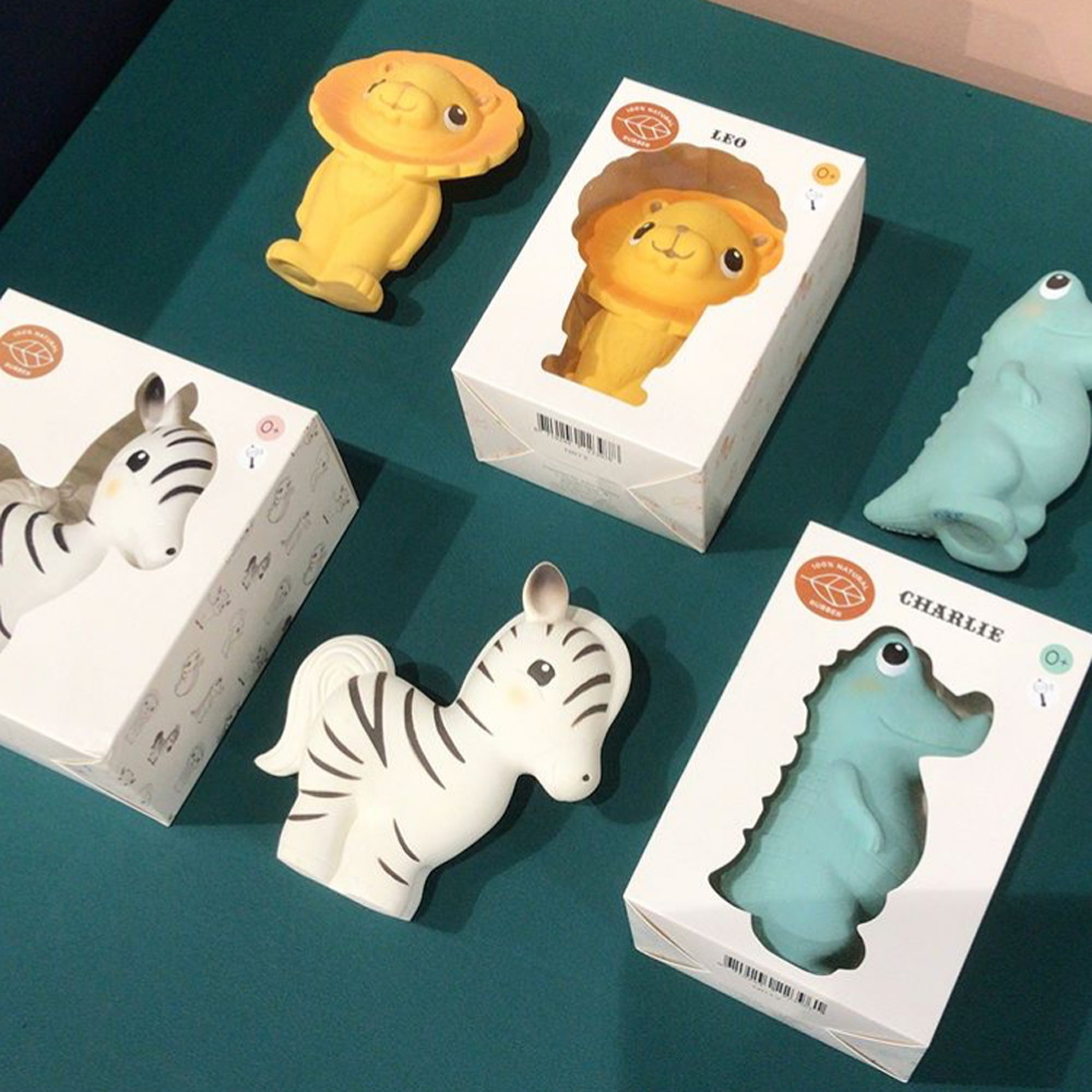 Petit Monkey 天然橡膠玩具-小斑馬吉比