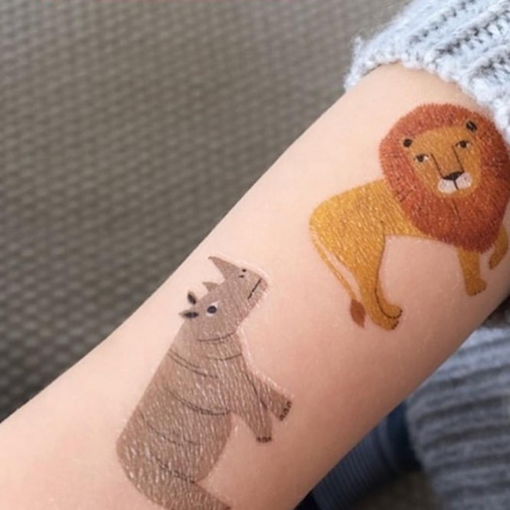 Petit Monkey|閃亮獅子與好朋友紋身貼紙