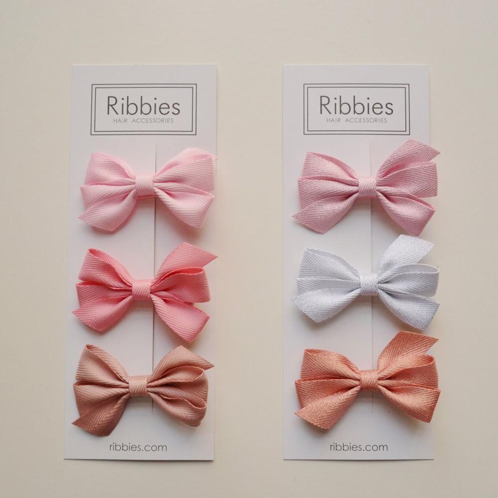 Ribbies|三層中蝴蝶結3入組-粉紅系列