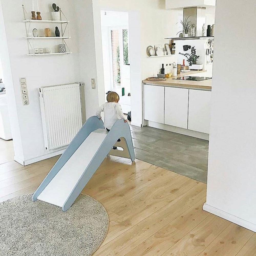 Jupiduu|頂級木製溜滑梯-藍色