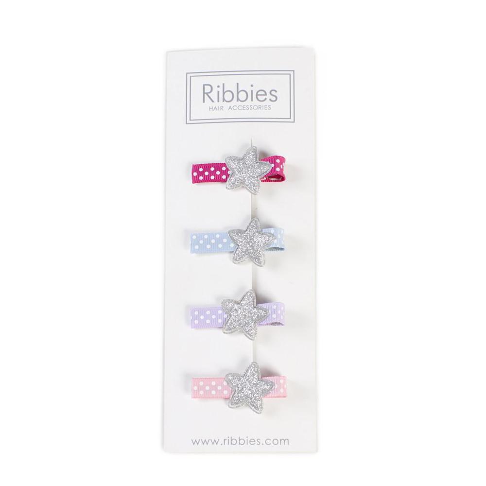 Ribbies|閃亮星星4入組-繽紛點點底