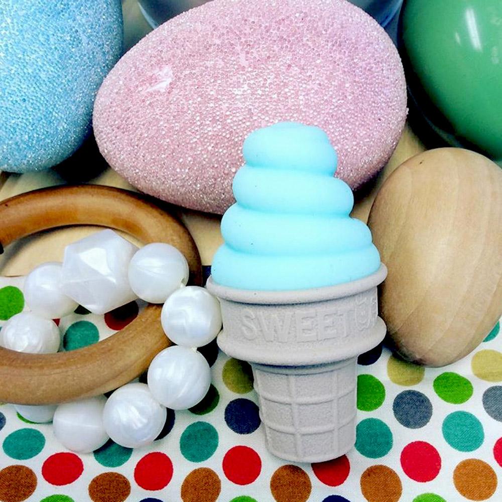 Sweetooth|香草冰淇淋固齒器-薄荷藍