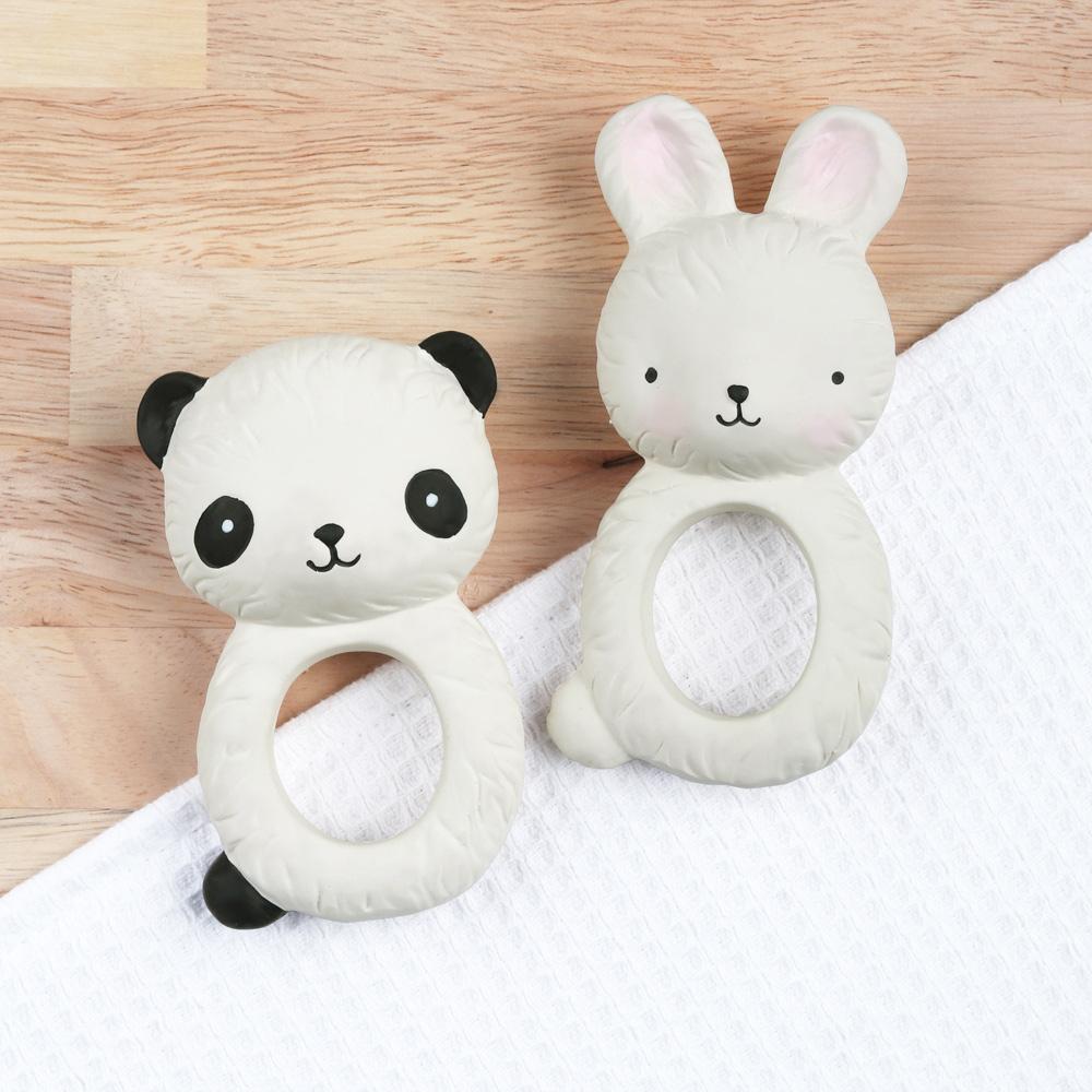 荷蘭A little lovely company|療癒酷黑熊貓橡膠固齒器
