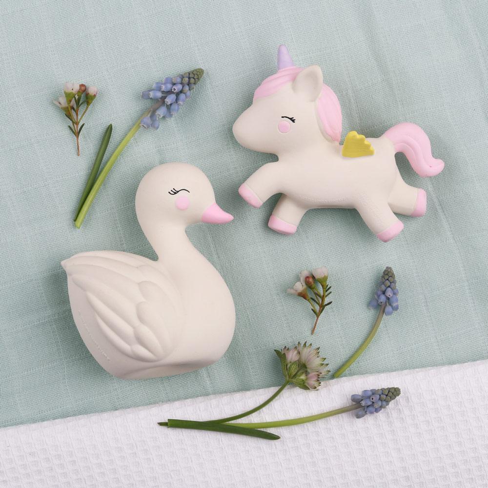 荷蘭A little lovely company 療癒天鵝橡膠玩具/固齒器