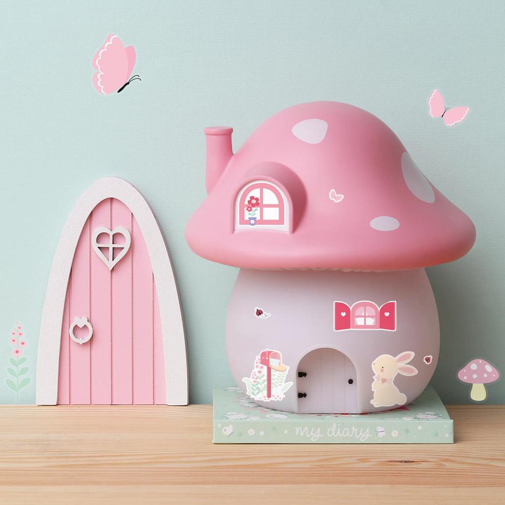 荷蘭A little lovely company|療癒粉紅大蘑菇裝飾燈(含變壓器)