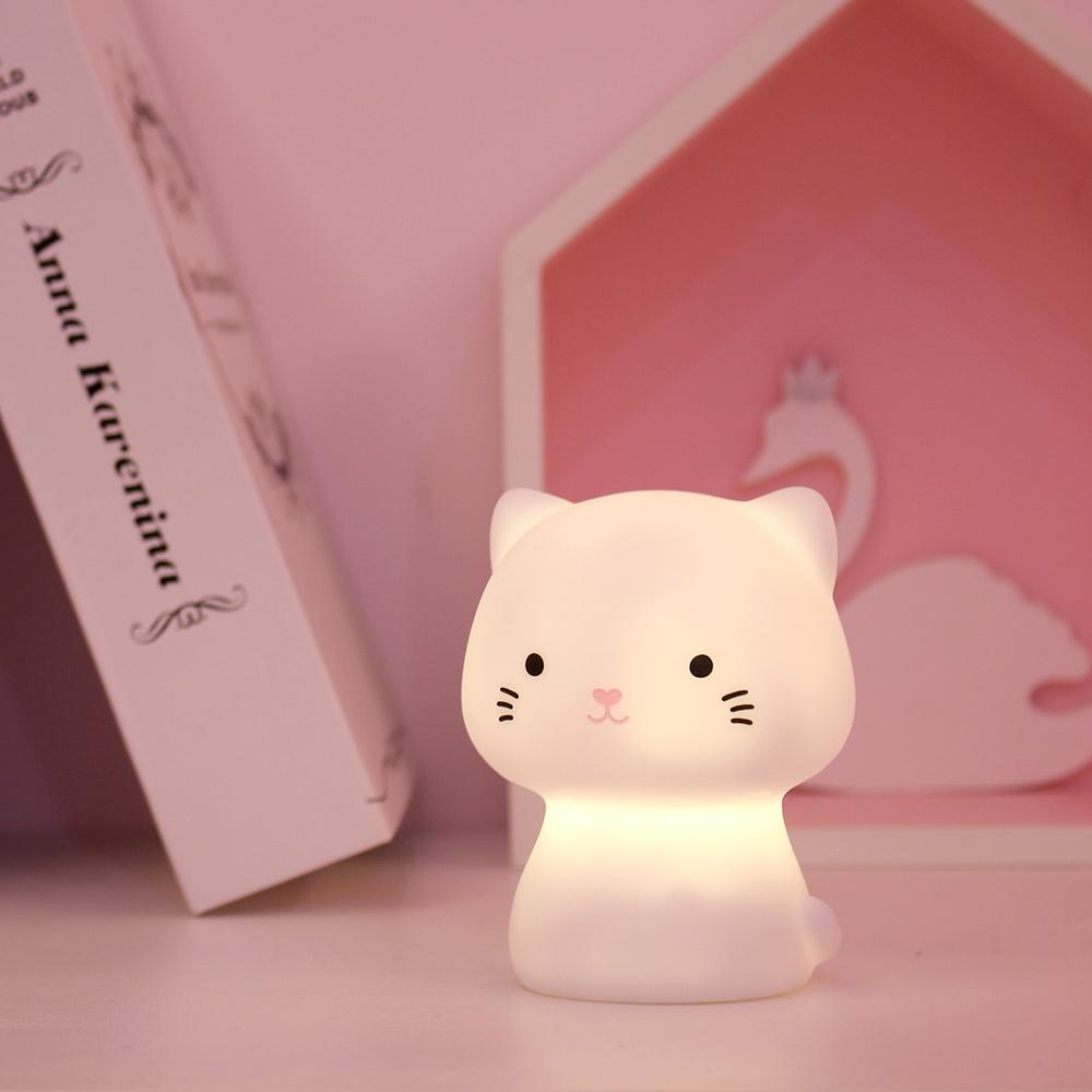 台灣SomeShine 充電式造型小夜燈-小貓咪
