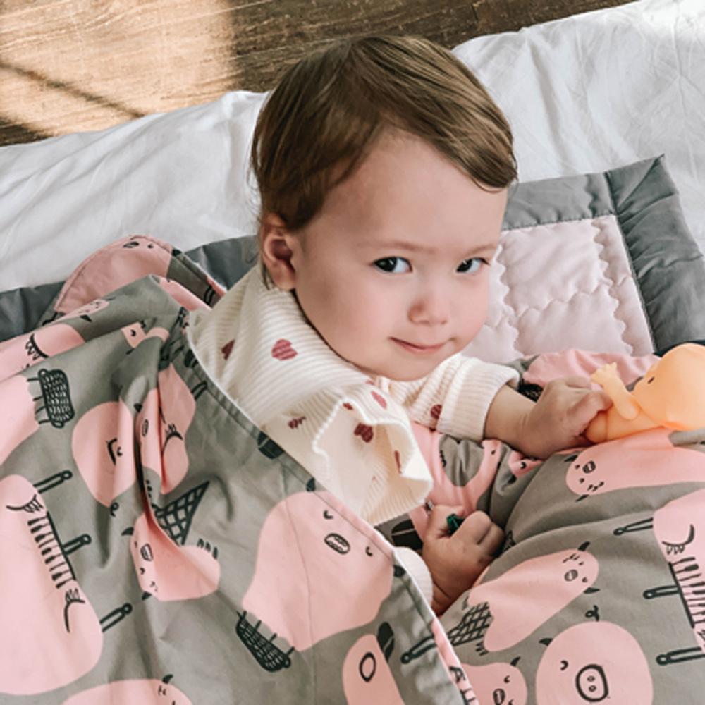 Daby|點點舒眠毯-豬豬小怪獸