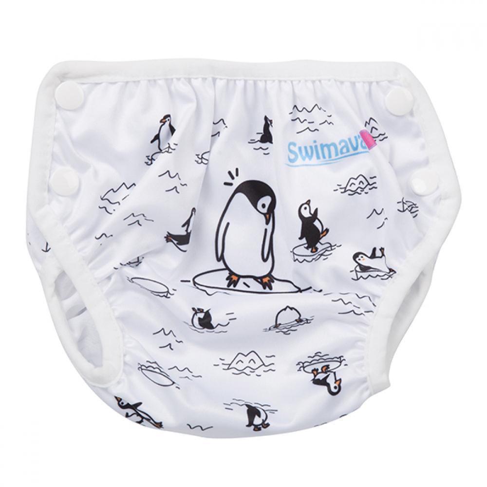 英國Swimava|S1企鵝嬰兒游泳褲-L號