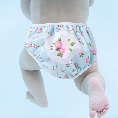英國Swimava S1小花朵朵嬰兒游泳褲-L號