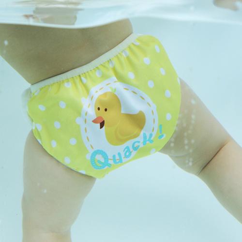 英國Swimava S1小黃鴨嬰兒游泳褲-L號