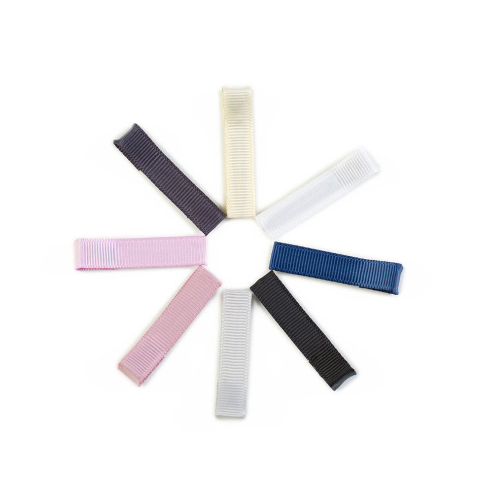 Ribbies|經典中性單色髮夾8入組