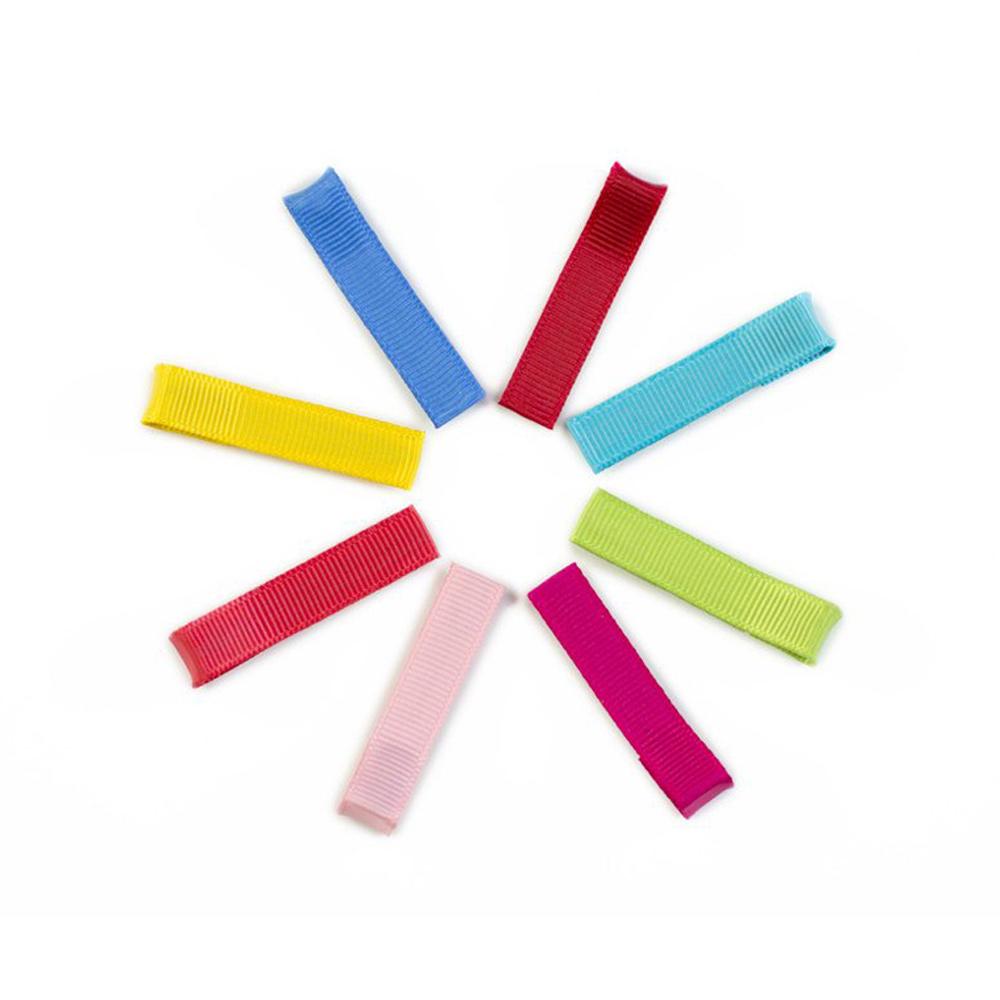 Ribbies|亮彩單色髮夾8入組