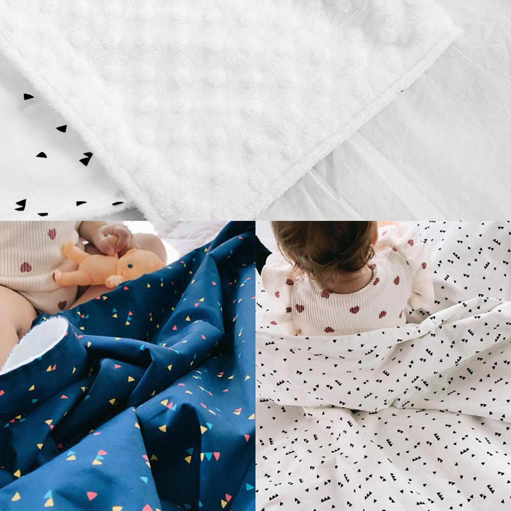 Daby|點點舒眠毯-粉紅兔兔烏龜