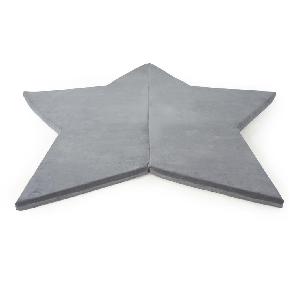波蘭Misioo 多功能遊戲地墊-粉灰星星