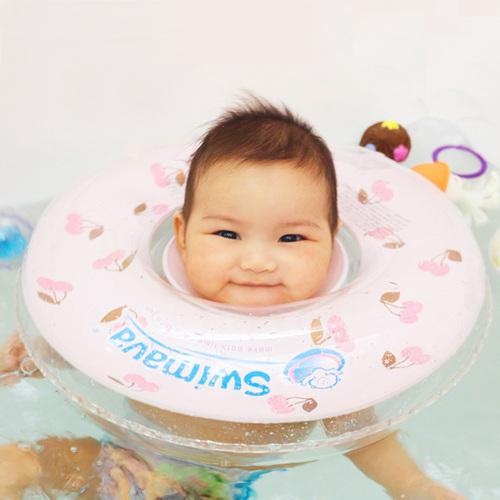 英國Swimava|G1櫻桃嬰兒游泳脖圈-標準尺寸