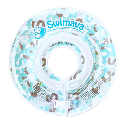 英國Swimava|G1淺藍迷彩嬰兒游泳脖圈-標準尺寸