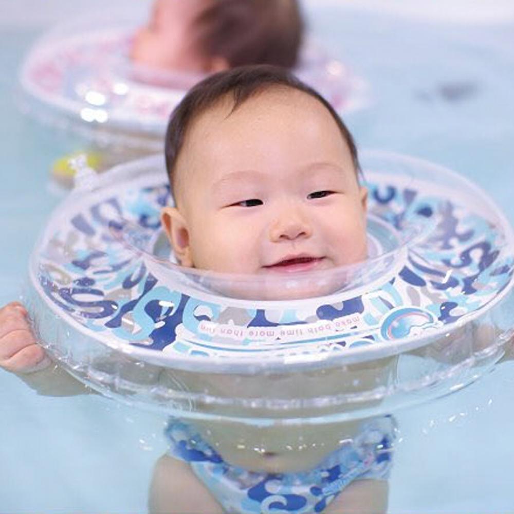英國Swimava|G1深藍迷彩嬰兒游泳脖圈-標準尺寸