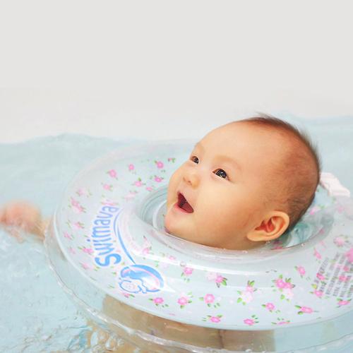 英國Swimava|G1小花朵朵嬰兒游泳脖圈-標準尺寸