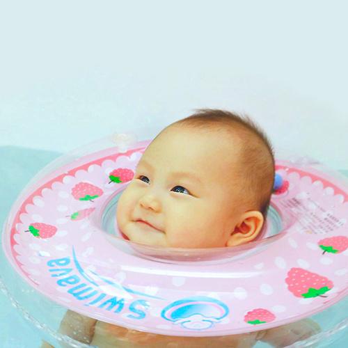 英國Swimava|G1紅莓嬰兒游泳脖圈-標準尺寸