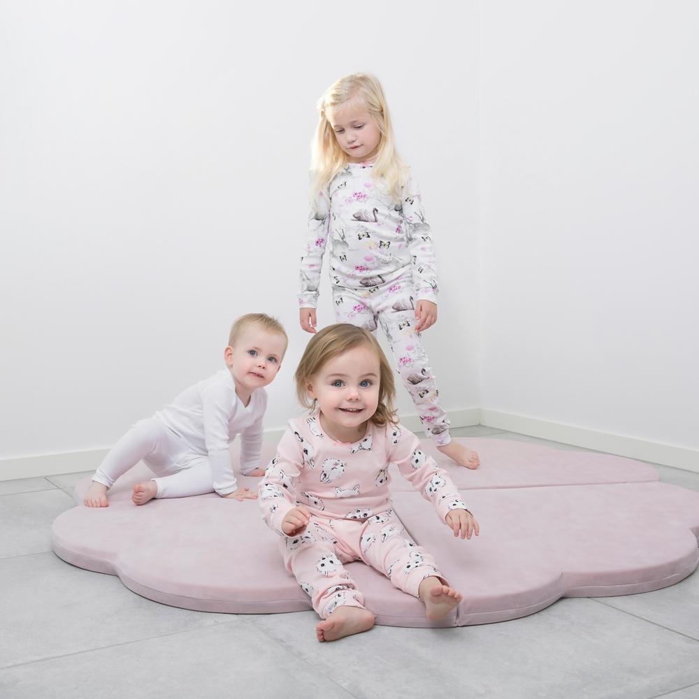 波蘭Misioo|多功能遊戲地墊-粉紅花朵