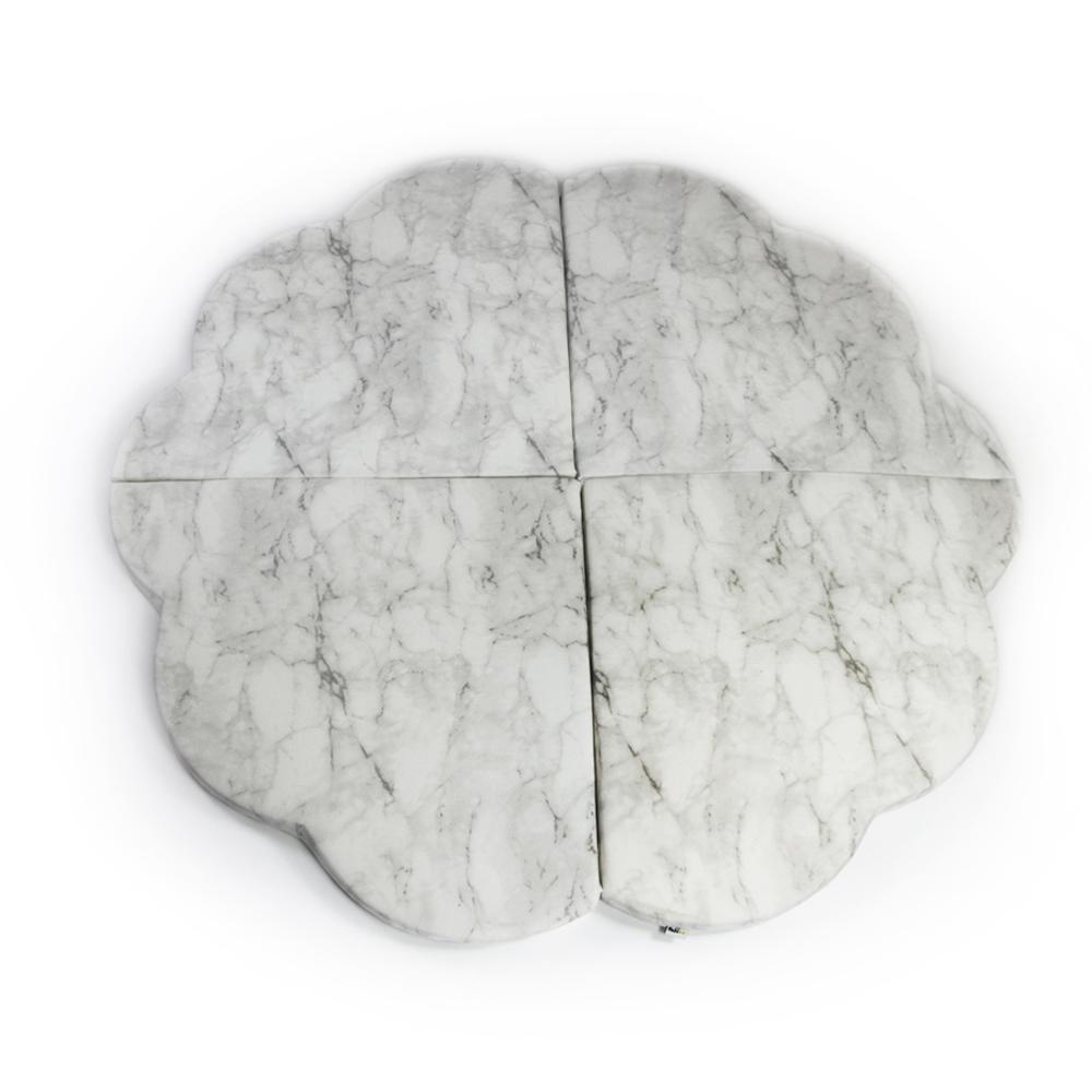 波蘭Misioo|多功能遊戲地墊-大理石花朵