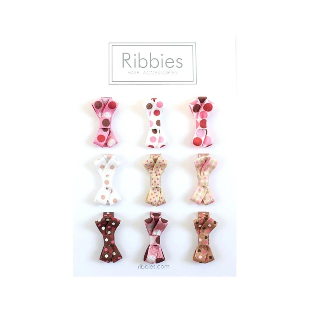 Ribbies 糖果蝴蝶結9入組-小圓點