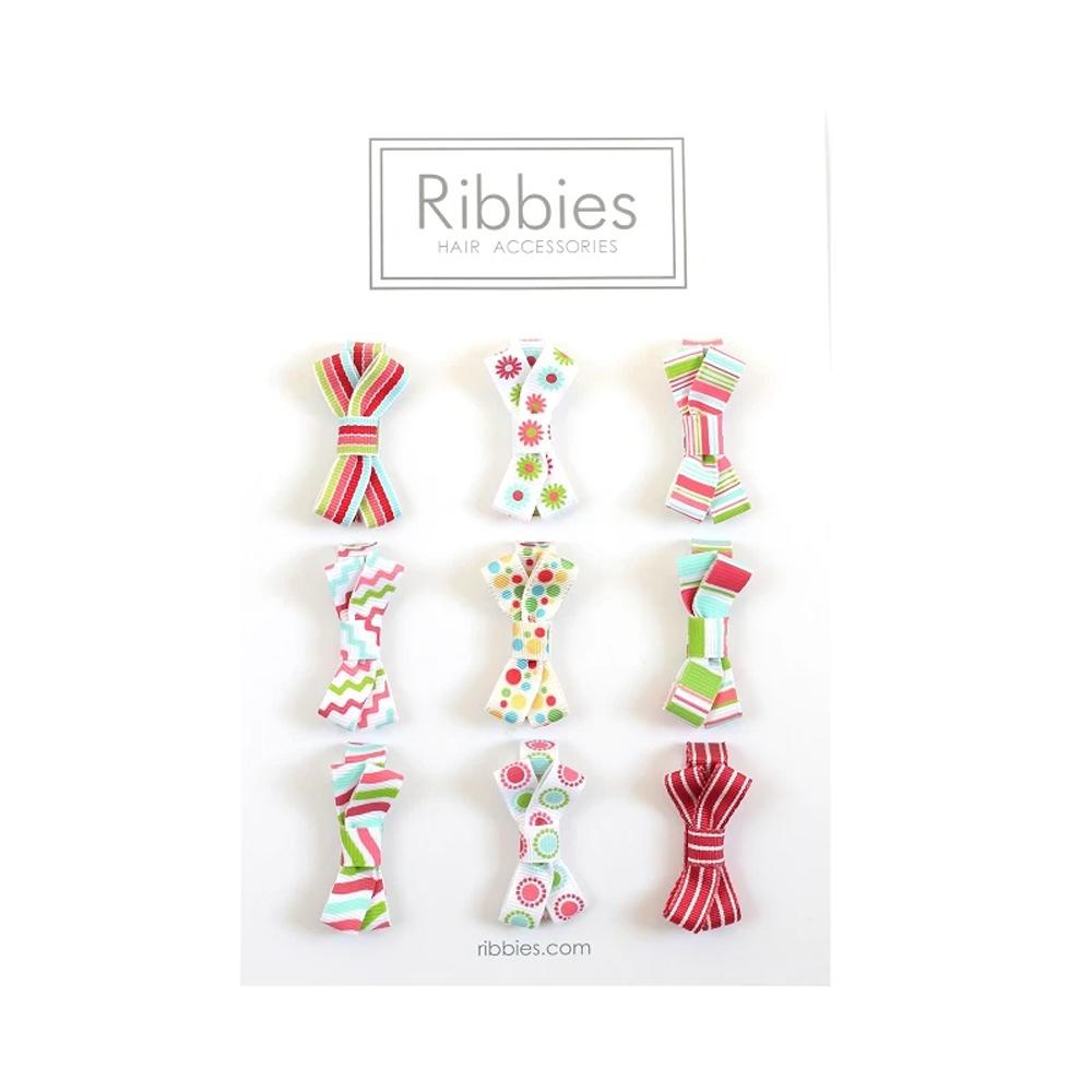 Ribbies|糖果蝴蝶結9入組-紅配綠