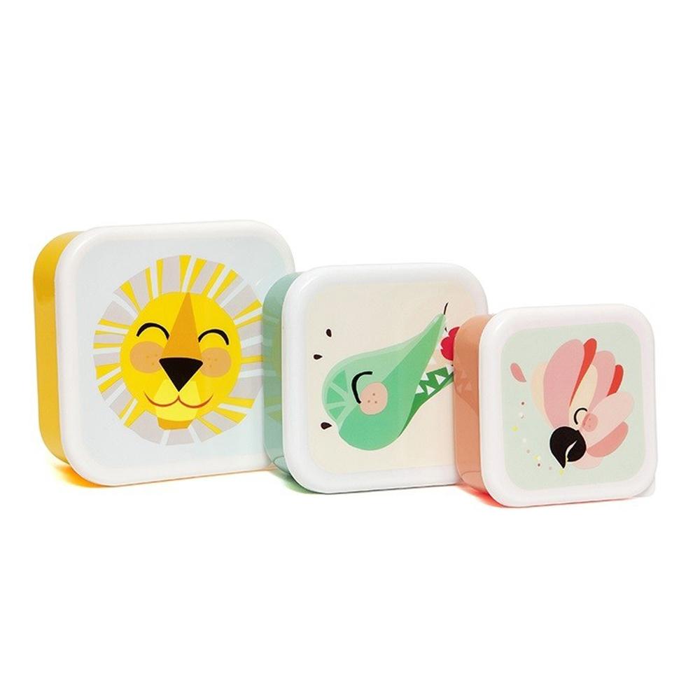 Petit Monkey 零食盒3入組-獅子與好朋友