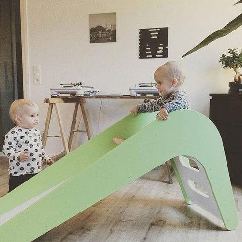 Jupiduu 頂級木製溜滑梯-綠色