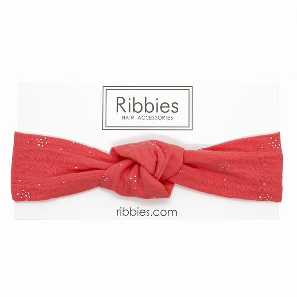 (複製)Ribbies|兒童寬版扭結髮帶--芥末黃金點點