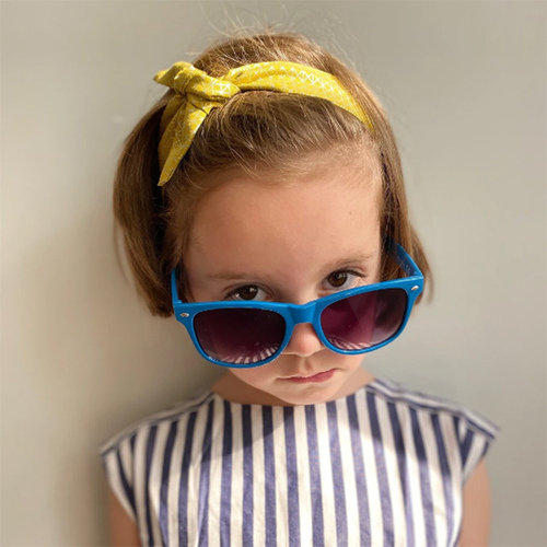 Ribbies|兒童蝴蝶結髮帶-金色幾何圖形