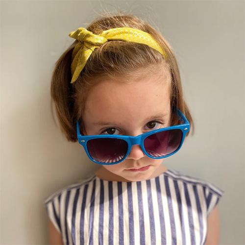 Ribbies|兒童蝴蝶結髮帶-甜桃幾何圖形