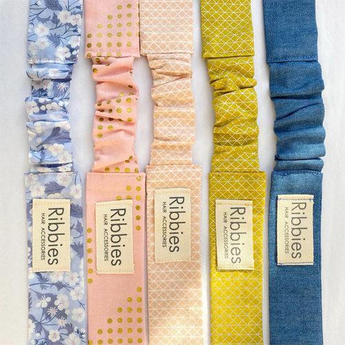Ribbies|兒童蝴蝶結髮帶-粉紅金點點