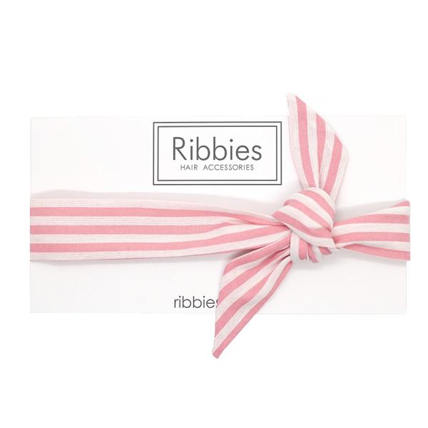 (複製)Ribbies 兒童蝴蝶結髮帶-粉紅金點點