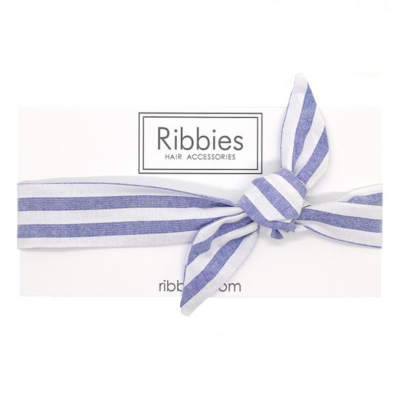 (複製)Ribbies|兒童蝴蝶結髮帶-粉紅白條紋