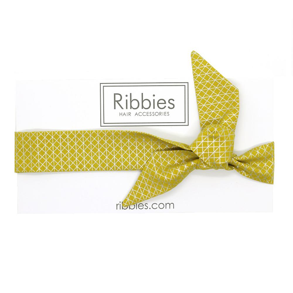 Ribbies|成人蝴蝶結髮帶-金色幾何圖形