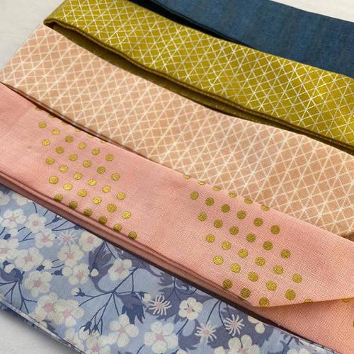 Ribbies|成人蝴蝶結髮帶-粉紅金點點