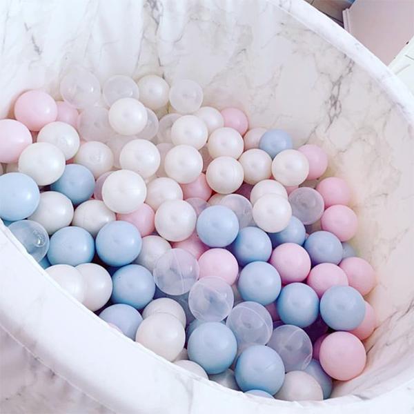 (複製)(複製)波蘭Misioo|遊戲球池-100x40淺灰(珍珠粉紅、珍珠白、珍珠灰、透明球四色400顆)