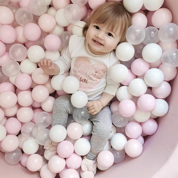 (複製)波蘭Misioo 遊戲球池-100x40大理石(內含300顆球,粉紅、珍珠白、透明球三色)