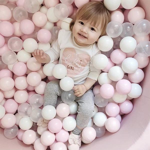 (複製)波蘭Misioo|遊戲球池-100x40大理石(內含300顆球,粉紅、珍珠白、透明球三色)