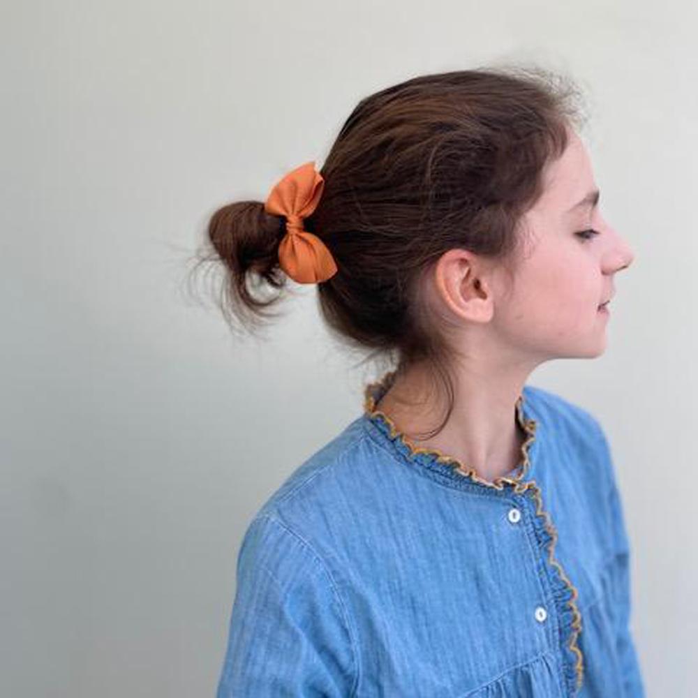 Ribbies 中蝴蝶結髮束-珊瑚紅