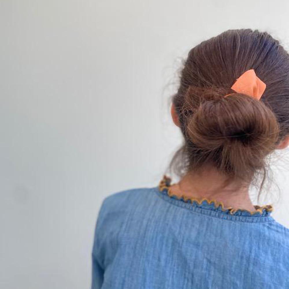 Ribbies|中蝴蝶結髮束-煙燻藍